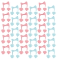 musical note with hearts seamless pattern vector image vector image