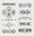 old vintage floral elements vector image