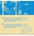 Poster on the subject of travel and tourism Hand vector image vector image