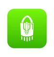 purse handbag hipster icon green vector image