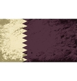 Qatar flag Grunge background vector image vector image