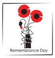Remembrance day symbol vector image vector image