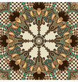retro paisley seamless pattern vector image