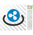 ripple area flat icon with bonus vector image vector image