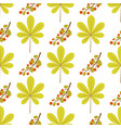 seamless pattern with chestnut leaf and branch vector image