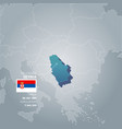 serbia information map vector image