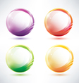 set abstract glosy circles vector image