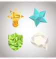 Set of polygonal geometrical figures vector image vector image