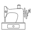 Sewing machine icon outline style vector image