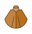 shawl or poncho fashion for winter and fall vector image vector image