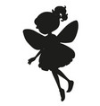 silhouette fairy character on white background vector image