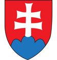 slovakia coat arms vector image