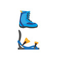 snowboarding boots bindings isolated vector image vector image