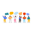 social network template group young people vector image vector image