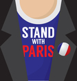 Stand With Paris T-Shirt vector image vector image