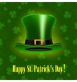 StPatrick Day background with hat vector image vector image