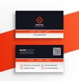 stylish professional orange business card design vector image vector image