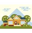 Summer Landscape With House and Tree in vector image vector image