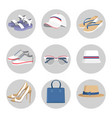 summer mode circled collection vector image vector image