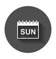 Sunday calendar page pictogram icon simple flat