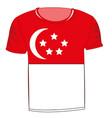 t-shirt flag singapore vector image