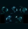 technology image globe vector image vector image