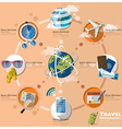 Travel And Journey Business Infographic vector image vector image
