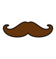 vintage male mustache vector image vector image