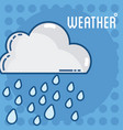 weather forescast concept vector image