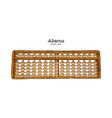 wooden abacus hand draw sketch vector image vector image