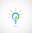 Eco bulb light icon vector image