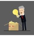 Lucky businessman has an idea Business concept vector image