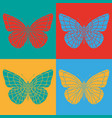 isolated colorful butterflies vector image
