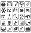 Basic Education Icons Set vector image