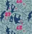 skateboarder pattern vector image