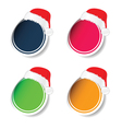 sticker with new year hat vector image