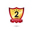 2 year warranty template design vector image