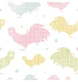 Abstract textile roosters seamless pattern vector image