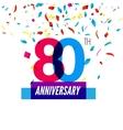 anniversary design 80th icon vector image vector image