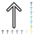 arrow up icon vector image vector image