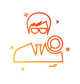 avatar male icon design vector image vector image