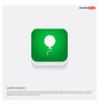 balloon icon green web button vector image