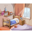 Bedroom interior in cartoon style vector image vector image