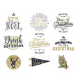 big merry christmas typography quotes wishes vector image vector image