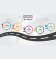 business infographic road design template pointer vector image vector image