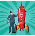 Business start up rocket vector image