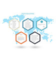 business template infographicsthe five hexagons vector image vector image