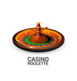 casino roulette object realistic background vector image vector image