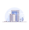 cityscape - modern thin line design style vector image vector image