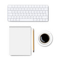 computer keyboard set isolated background vector image vector image